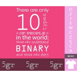 THERE ARE ONLY 10 TYPES OF PEOPLE IN THE WORLD: THOSE WHO UNDERSTAND BINARY, AND THOSE WHO DON'T