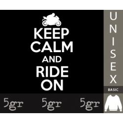 KEEP CALM AND RIDE ON MOTOR