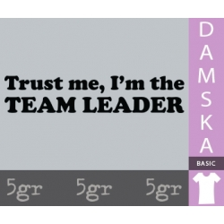 TRUST ME I'M THE TEAM LEADER