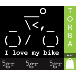 I LOVE MY BIKE ASCII