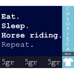 EAT SLEEP HORSE RIDING REPEAT